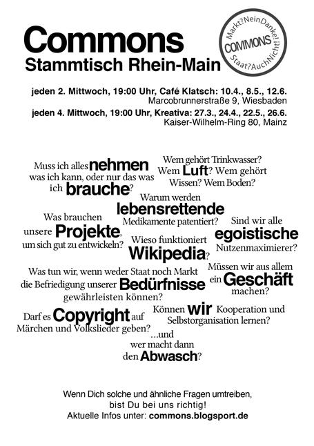 Commons-Stammtisch Flyer